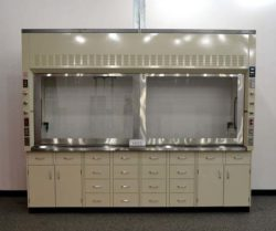 10' Mott Chemical Fume Hood Base w/ Epoxy Resin Countertops (H025)