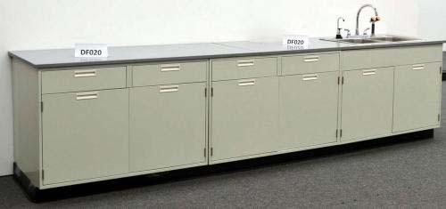 12′ FISHER HAMILTON LABORATORY FURNITURE CABINETS WITH EPOXY RESIN COUNTER TOPS