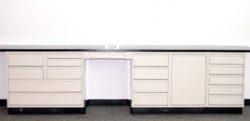 12.5' Used Laboratory Cabinets