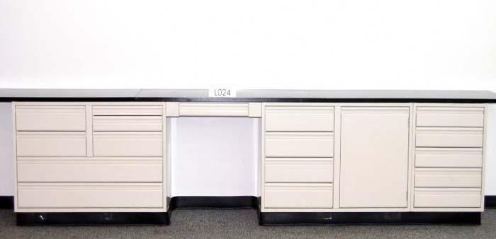 12.5' Used Laboratory Cabinets/Used Laboratory Furniture