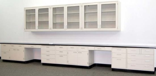 19' Fisher Lab Cabinets w/ 12' Wall Units