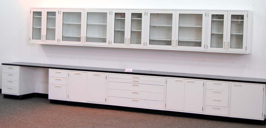 19 Hamilton Lab Cabinets Casework W 16 Wall Cabinets Nls