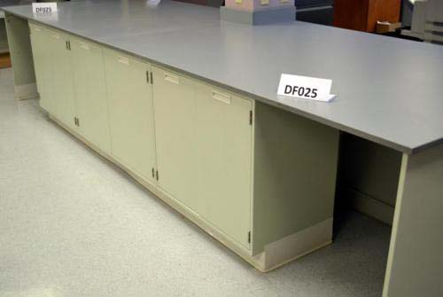 20' Fisher Hamilton Laboratory Furniture Cabinet Island w/ Epoxy Counter Tops