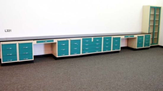20' Laboratory Cabinets w/ Shelf