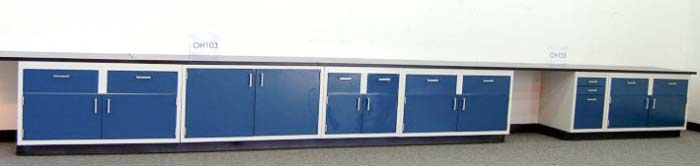 23' Laboratory Cabinets and Casework