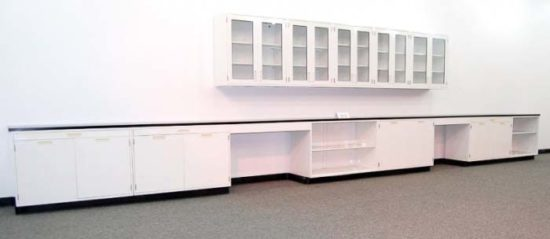 30' Fisher Hamilton Cabinets w/ Glass Wall Units