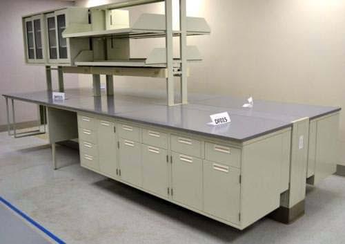 30 Fisher Hamilton Laboratory Furniture Island W 29 Upper Cabinets