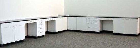 32' Used Laboratory Cabinets