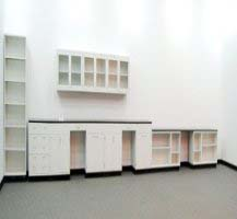 38′ FISHER LAB CABINETS CASEWORK with 12′ WALL UNITS L019