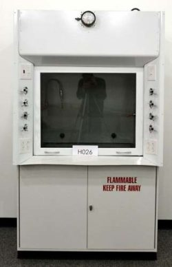 4' Kewaunee Fume Hood w/ Flammable Base Cabinets