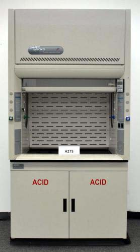 4 Labconco Protector Used Laboratory Fume Hood With Epoxy Tops And Base Cabinets H275