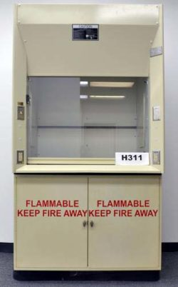 4' Kewaunee Fume Hood w/ Base Cabinets