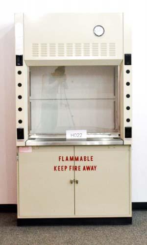 4' New Mott Fume Hood w/ Flammable Storage Cabinet & Epoxy Resin Countertops