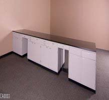 40′ FISHER HAMILTON LABORATORY CABINET ISLAND GROUP USED CASEWORK FURNITURE CA0003