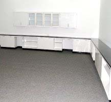 41′ FISHER LAB CABINETS CASEWORK WITH GLASS WALL UNITS L016