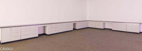 47' Used Fisher Hamilton Laboratory Cabinets w/ Industrial Grade Countertops