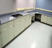 48' Fisher Hamilton Laboratory Cabinets w/ Epoxy Countertops