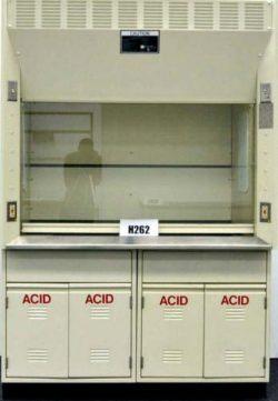 5' Kewaunee Laboratory Fume Hood w/ Chemical Storage Cabinets