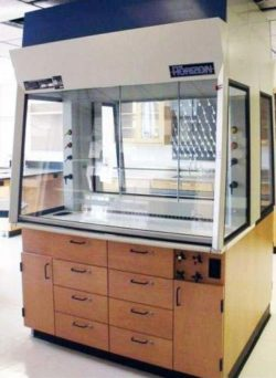 5' Thermo Scientific / Fisher Hamilton Horizon Full View Workstation Laboratory Fume Hood