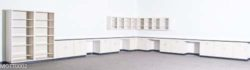 50.5' Mott Laboratory Cabinets