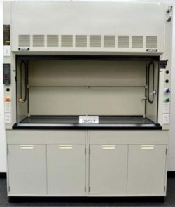 6' Fisher Hamilton Fume Hood w/ Base Cabinets & Epoxy Countertops