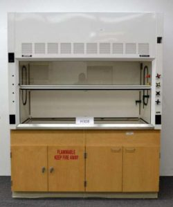6' Thermo Fisher Laboratory Fume Hood w/ Epoxy Tops Base Cabinets