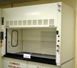 6' Fisher Hamilton Fume Hood w/ Flammable Cabinets & Epoxy Countertops