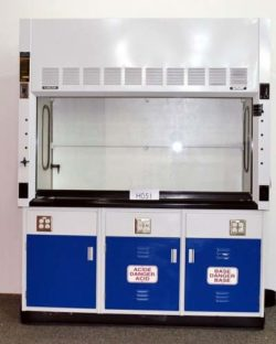 6' Fisher Hamilton SafeAire Fume Hood w/ Acid Storage Cabinets