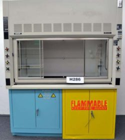 6' Fisher Hamilton SafeAire Fume Hood w/ Flammable & Acid Storage Cabinets