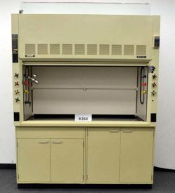 6' Hamilton SafeAire Fume Hood w/ Epoxy Resin Countertops