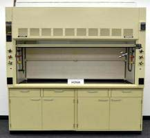 6' Fisher Hamilton Safeaire Laboratory Fume Hood w/ Epoxy Counter Tops Base Cabinets