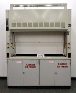 6' Hamilton Safeaire Fume Hood w/ Commercial Grade Epoxy Counter Tops