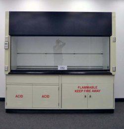 8' Labconco Laboratory Fume Hood w/ Flammable Storage Cabinets