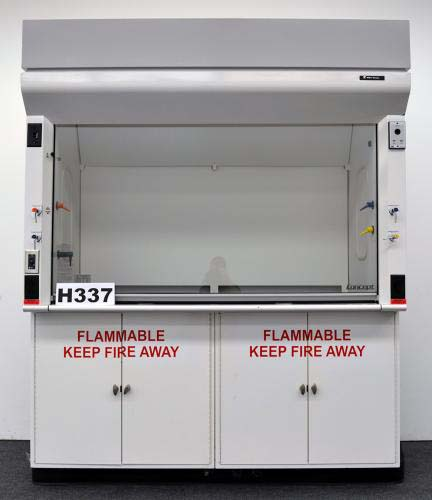 6′ FISHER HAMILTON CONCEPT LABORATORY FUME HOOD with FLAMMABLE CABINETS H337