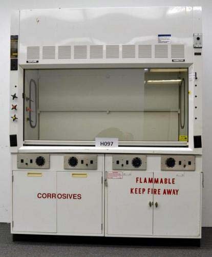 6′ HAMILTON SAFEAIRE FUME HOOD WITH EPOXY COUNTER TOPS H097