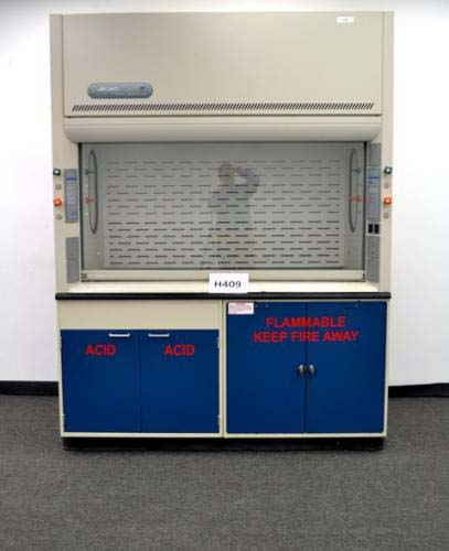6′ LABCONCO LABORATORY FUME HOOD WITH FLAMMABLE BASE CABS AND EPOX (H409)