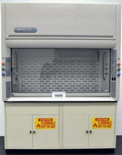 6' Labconco Protector Fume Hood w/ Base Cabinets & Epoxy Resin Countertops