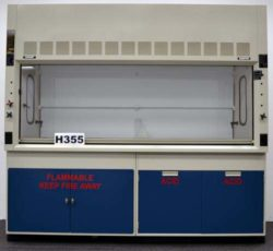8' Fisher Hamilton Safeaire Fume Hood w/ Acid Flammable Cabinets