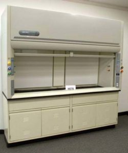 8' Labconco Protector Fume Hood w/ Chemical Storage Cabinets (H078)