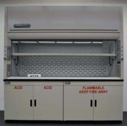 8' Labconco Protector Laboratory Fume Hood w/ Flammable & Acid Storage Cabinets
