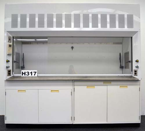 8′ BEDCOLAB LABORATORY FUME HOOD with BASE CABINETS H317