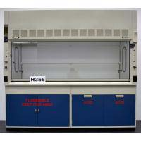 8′ FISHER HAMILTON SAFEAIRE FUME HOOD with FLAMMABLE ACID CABINETS H356