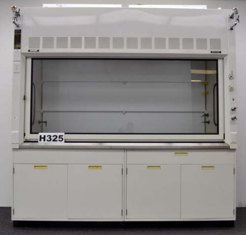8′ FISHER HAMILTON SAFEAIRE LABORATORY FUME HOOD with BASE CABINETS H325