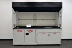8' Labconco Fume Hood w/ Flammable & Acid Storage Cabinets