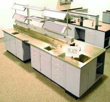 Fisher Hamilton Lab Cabinets & Island