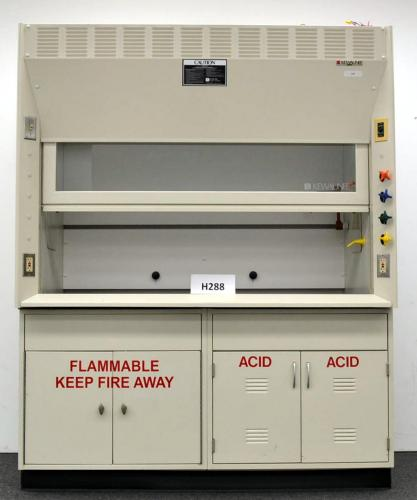 6′ Kewaunee Scientific Laboratory Fume Hood with Epoxy Tops Base Cabinets H288