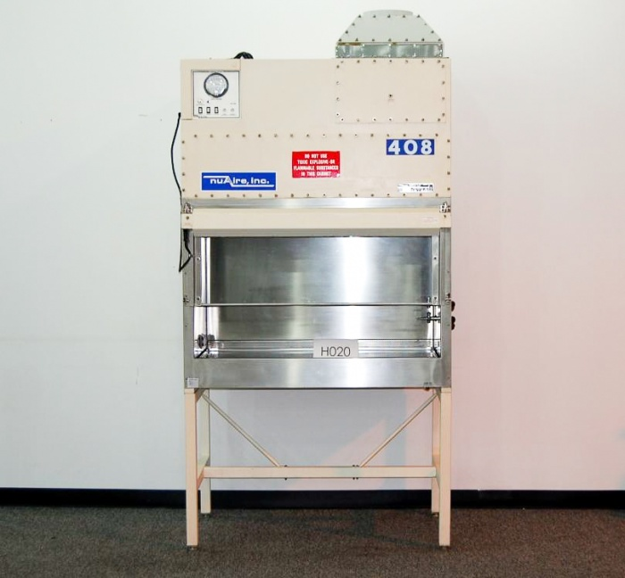 50 1 2 nuaire bio safety cabinet fume hood with stand h020