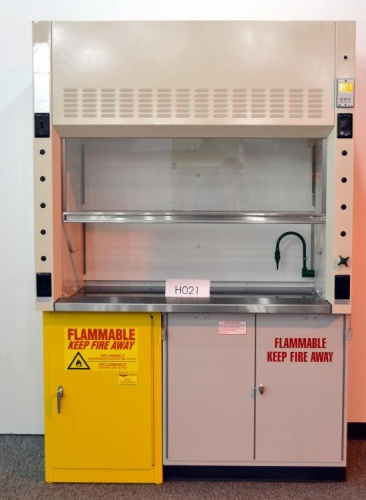 5 New Mott Fume Hood With New Flammable Base Cabinets And