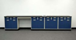 15' Base Laboratory Cabinets w/ Chemical Resistant Counter Tops (C305)