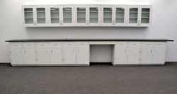 15' Wall & 17 1/2' Base Laboratory Cabinets w/ Industrial Grade Tops (LS OPEN2)